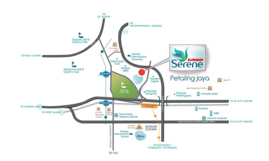 sunway-serene-map